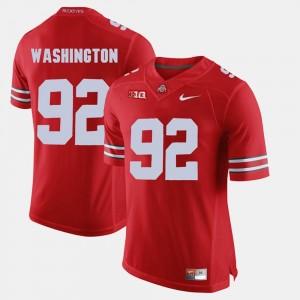 Scarlet Adolphus Washington College Jersey Alumni Football Game Ohio State Buckeye Men's #92