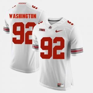 Ohio State For Men #92 Alumni Football Game Adolphus Washington College Jersey White