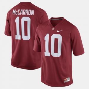 Crimson A.J. McCarron College Jersey #10 Alumni Football Game Bama Men's