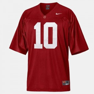 Football Red #10 Alabama Youth(Kids) A.J. McCarron College Jersey