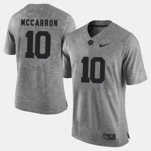 Bama Gridiron Gray Limited Gray A.J. McCarron College Jersey #10 Gridiron Limited Men's