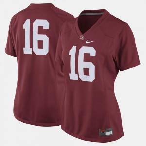 #16 Alabama Crimson Tide Ladies Crimson College Jersey Football