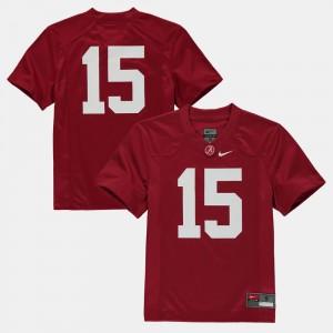 Bama Crimson College Jersey Football #15 Youth(Kids)