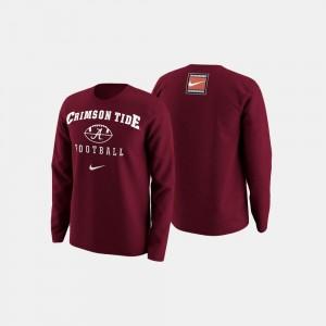 Football Retro Pack Alabama Crimson Tide College Sweater Men's Crimson