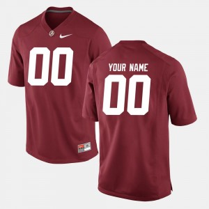 For Men's Crimson #00 Alabama Crimson Tide Football College Custom Jerseys