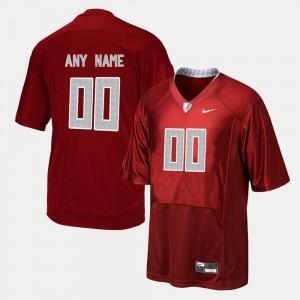 Football College Custom Jerseys #00 Red Bama For Men's