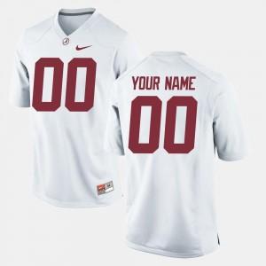 #00 White University of Alabama Men Football College Customized Jersey