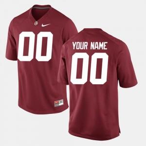 Crimson #00 College Custom Jersey University of Alabama Limited Football Men