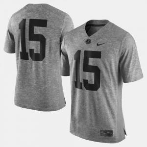 Alabama Gray Men Gridiron Gray Limited Gridiron Limited College Jersey #15