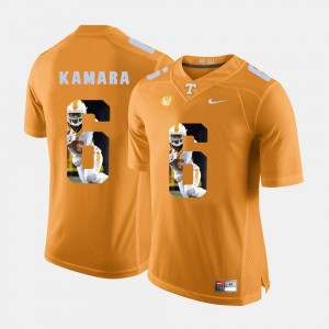 #6 Mens Orange Alvin Kamara College Jersey Pictorial Fashion Tennessee Volunteers