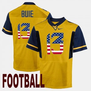 Andrew Buie College Jersey #13 US Flag Fashion Men Gold WV