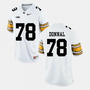 For Men White Alumni Football Game #78 Andrew Donnal College Jersey Iowa