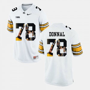 #78 White Pictorial Fashion Andrew Donnal College Jersey Iowa For Men's