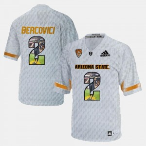 #2 Mike Bercovici College Jersey ASU For Men Player Pictorial White