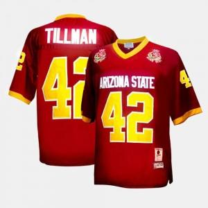 Football Mens Pat Tillman College Jersey Red Arizona State University #42