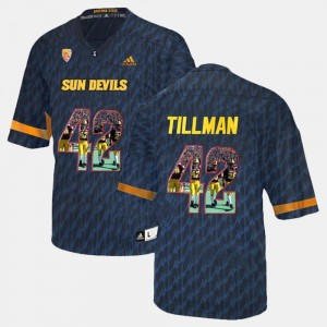 #42 Arizona State University Black Men's Player Pictorial Pat Tillman College Jersey