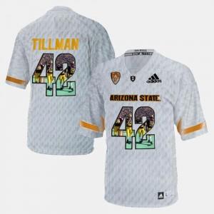 Pat Tillman College Jersey #42 For Men's Player Pictorial Sun Devils White
