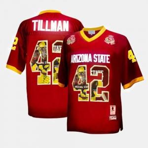 Pat Tillman College Jersey Arizona State Sun Devils #42 Throwback For Men Maroon