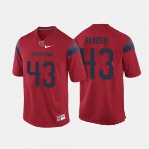 Lucas Havrisik College Jersey Men's Red Wildcats #43 Football