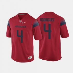 Rhett Rodriguez College Jersey University of Arizona Red Football Men's #4