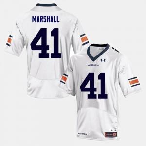 White Football Auburn University #41 For Men Aidan Marshall College Jersey