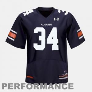 #34 Auburn Tigers Youth(Kids) Football Blue Bo Jackson College Jersey