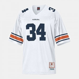 #34 White Football Auburn Kids Bo Jackson College Jersey