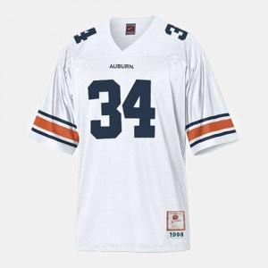 For Men #34 White Football Auburn University Bo Jackson College Jersey