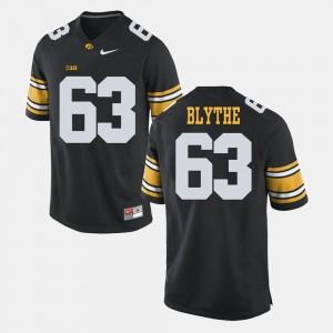 Black #63 Men's Austin Blythe College Jersey Alumni Football Game Iowa Hawkeyes