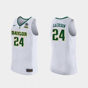 2019 NCAA Women's Basketball Champions Chloe Jackson College Jersey #24 White Baylor Bears For Women