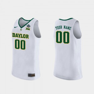 Womens #00 BU 2019 NCAA Women's Basketball Champions White College Custom Jersey