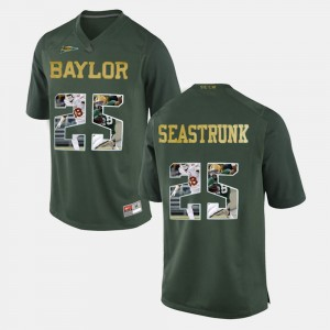 Green Player Pictorial Baylor University #25 Lache Seastrunk College Jersey Mens