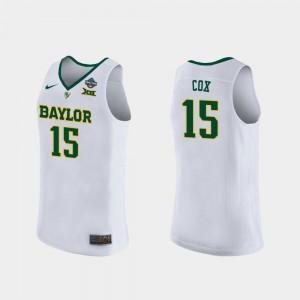 #15 Womens White Baylor University Lauren Cox College Jersey 2019 NCAA Women's Basketball Champions