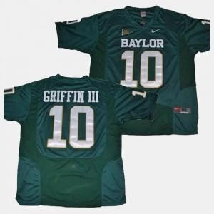 #10 Football Mens Robert Griffin III College Jersey Baylor Bears Green