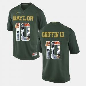 Baylor Player Pictorial Green #10 Men's Robert Griffin III College Jersey