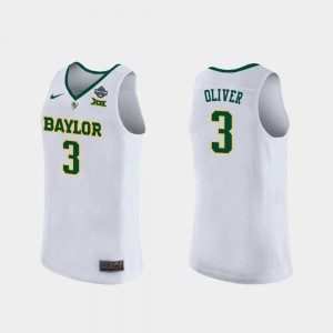 Trinity Oliver College Jersey 2019 NCAA Women's Basketball Champions #3 Women's White Baylor