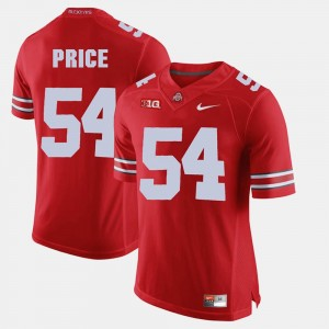 Alumni Football Game Mens Scarlet Billy Price College Jersey Ohio State Buckeye #54