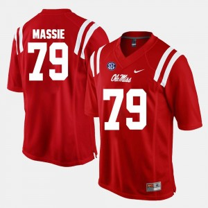Alumni Football Game Red #79 Rebels Bobby Massie College Jersey Mens