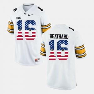 US Flag Fashion Iowa White #16 Mens C.J Beathard College Jersey