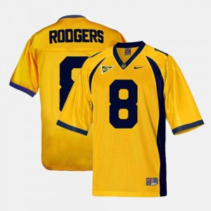 Football Aaron Rodgers College Jersey #8 Gold Youth Berkeley