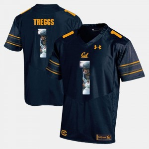 Navy Blue Cal Bryce Treggs College Jersey Mens Player Pictorial #1