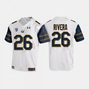 Bug Rivera College Jersey Mens White California Bears Football #26
