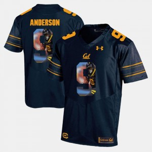 Golden Bears #9 Navy Blue Men Player Pictorial C.J. Anderson College Jersey