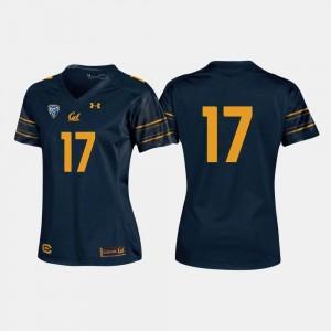 #17 Football Navy Golden Bears College Jersey Women's