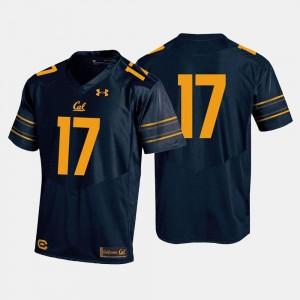Football College Jersey #17 Navy For Men's California Berkeley