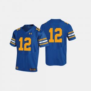 UC Berkeley College Jersey Football Royal Blue #12 Mens