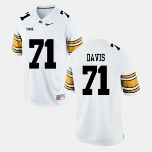 For Men's Carl Davis College Jersey White Hawkeyes Alumni Football Game #71