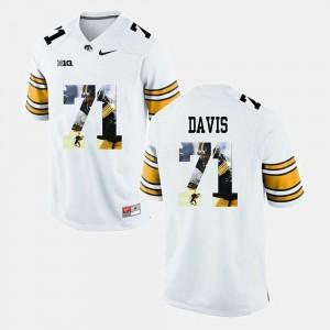 #71 White Pictorial Fashion Carl Davis College Jersey Iowa Hawkeye For Men's