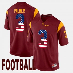 #3 Trojans Men's US Flag Fashion Carson Palmer College Jersey Maroon