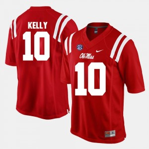 Alumni Football Game #10 Mens Red Chad Kelly College Jersey Ole Miss